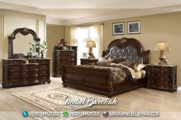 Best Bed Set Teak Wood Casual Brown JK-935
